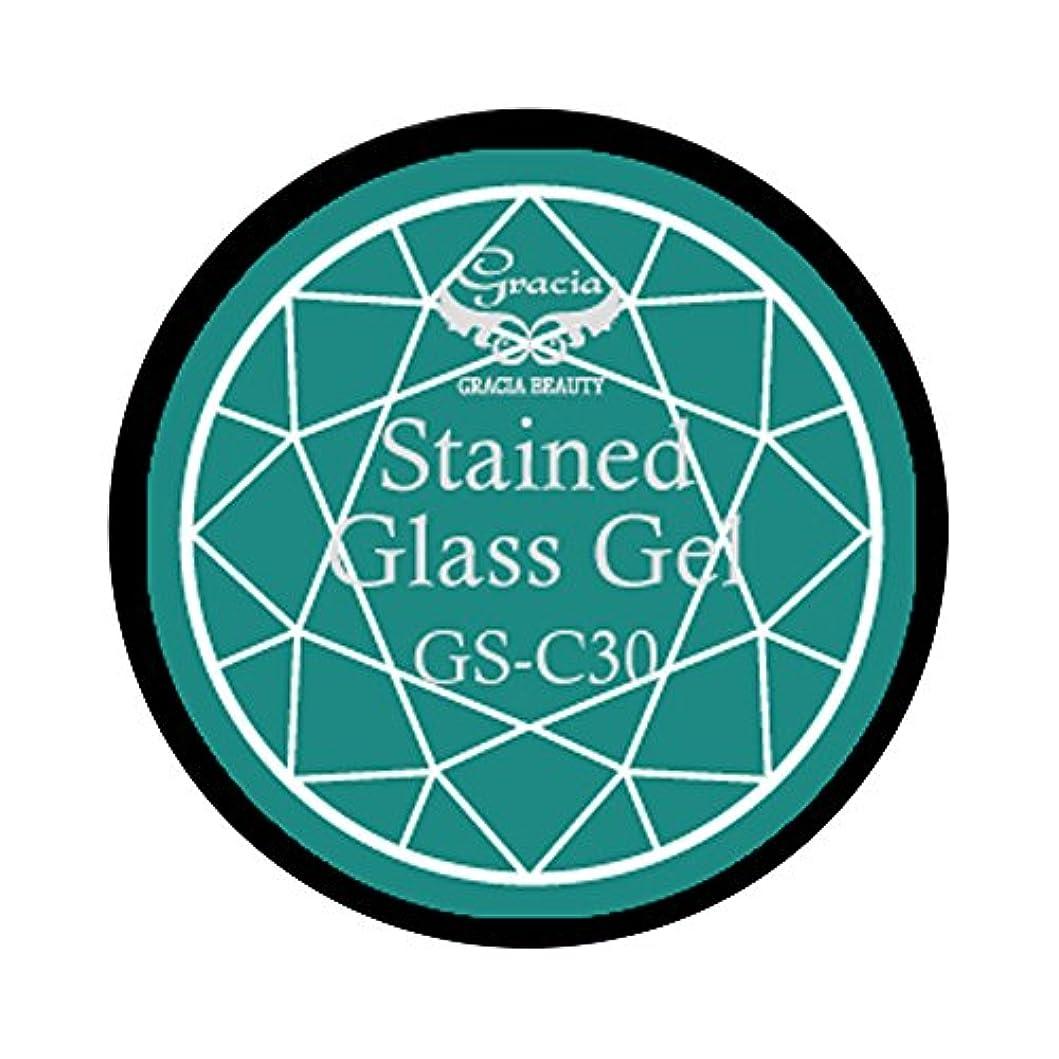 社交的日帰り旅行に忙しいグラシア ジェルネイル ステンドグラスジェル GSM-C30 3g  クリア UV/LED対応 カラージェル ソークオフジェル ガラスのような透明感