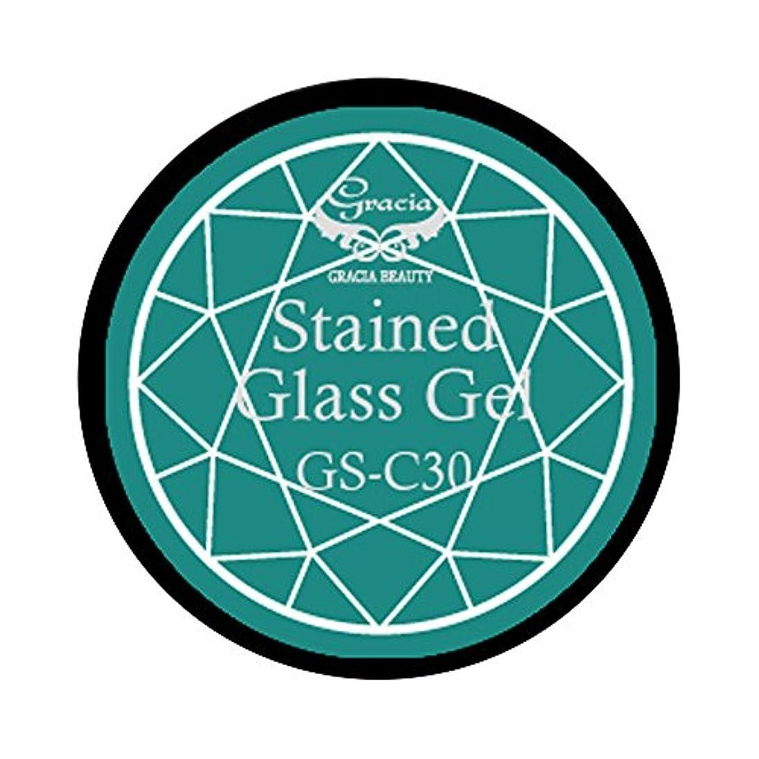 寄託移行ワークショップグラシア ジェルネイル ステンドグラスジェル GSM-C30 3g  クリア UV/LED対応 カラージェル ソークオフジェル ガラスのような透明感