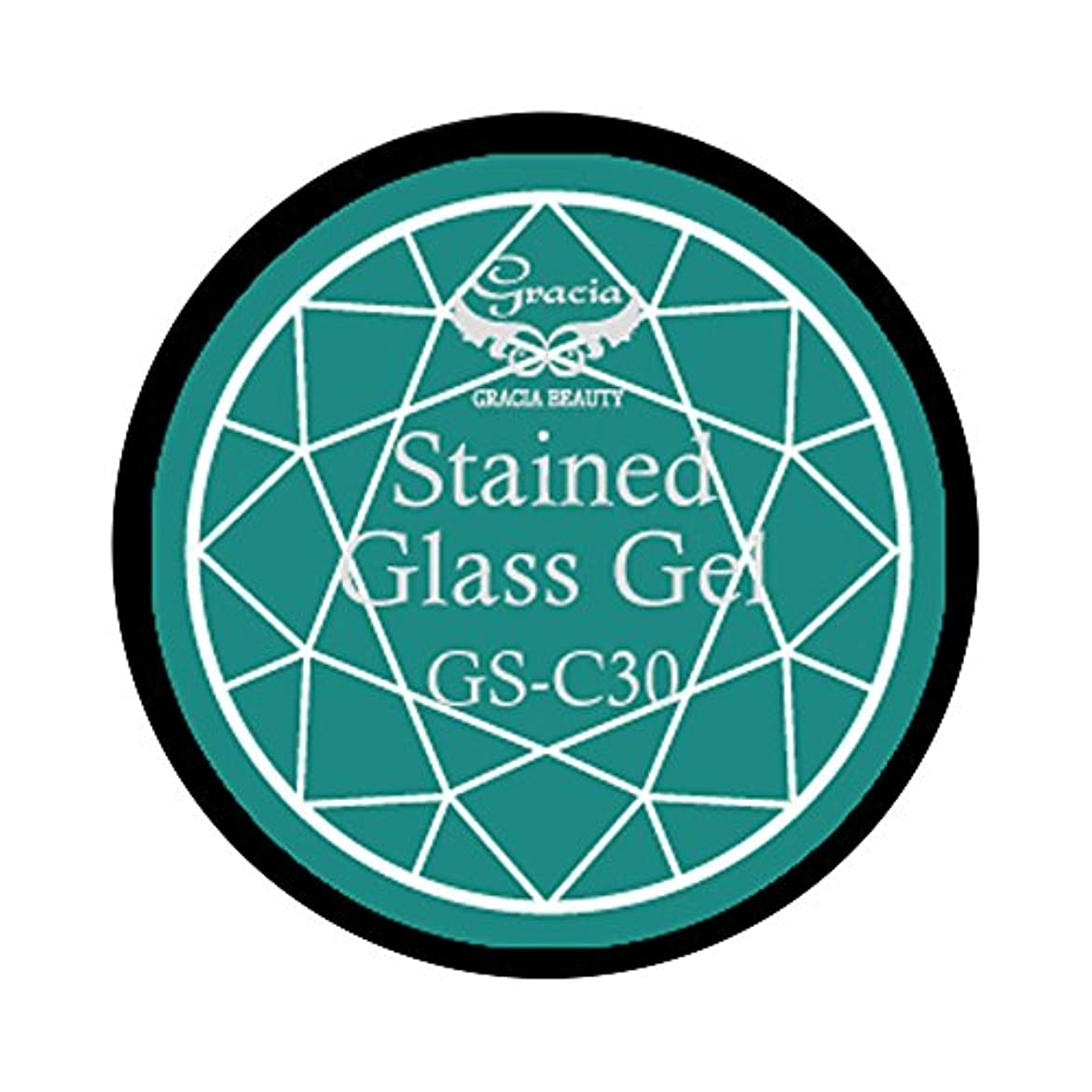 グラシア ジェルネイル ステンドグラスジェル GSM-C30 3g  クリア UV/LED対応 カラージェル ソークオフジェル ガラスのような透明感