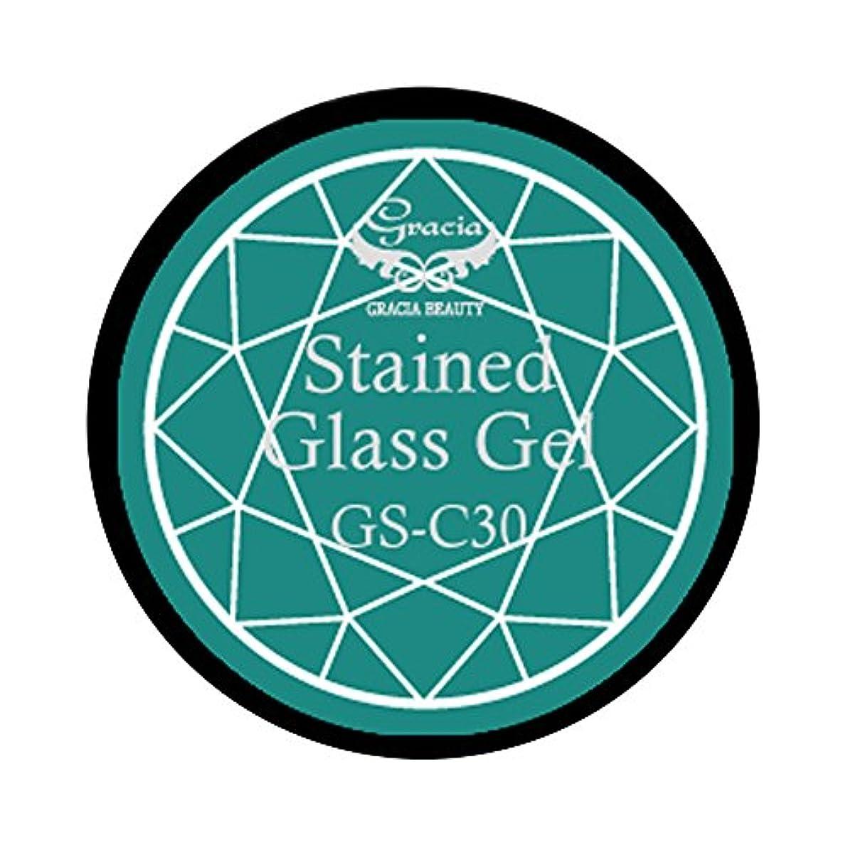 喜んでまばたき議会グラシア ジェルネイル ステンドグラスジェル GSM-C30 3g  クリア UV/LED対応 カラージェル ソークオフジェル ガラスのような透明感