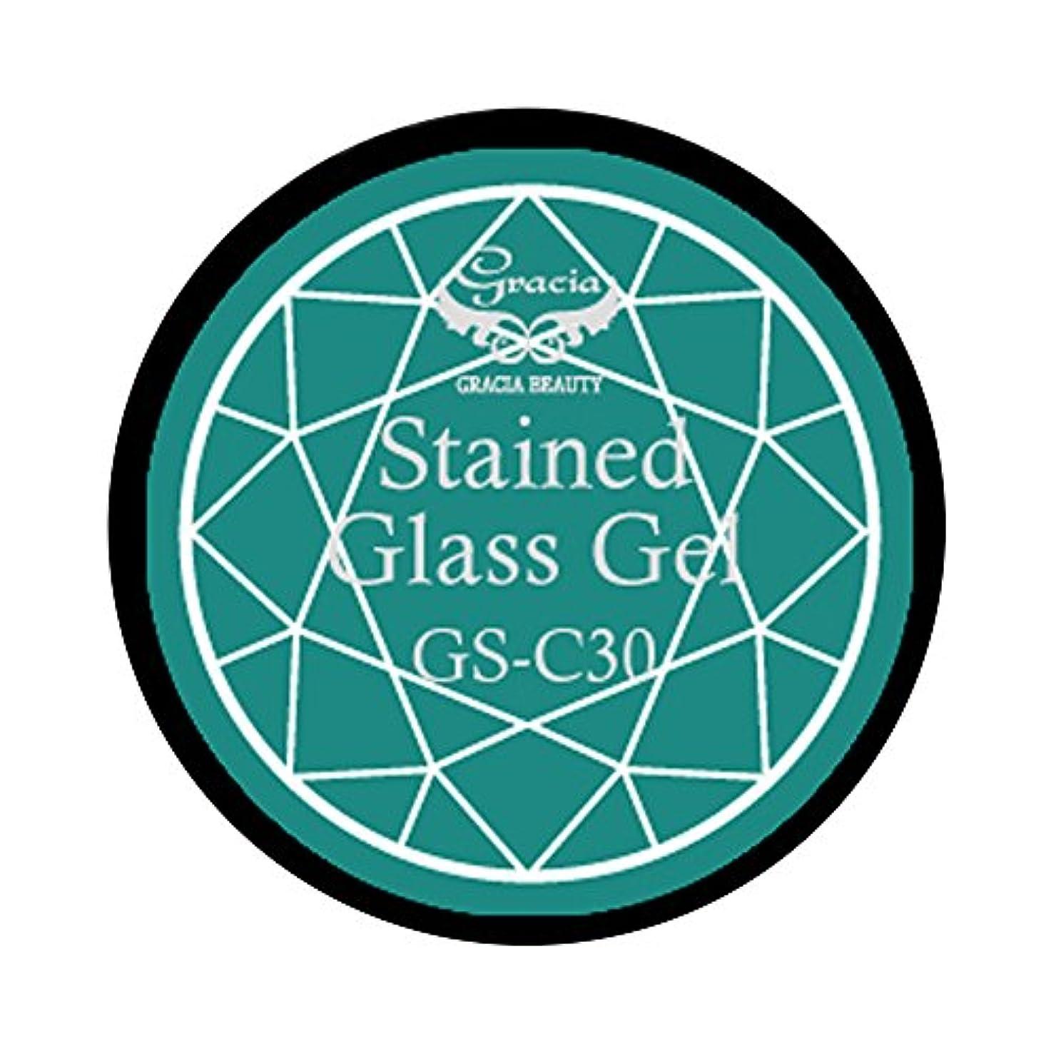 汚染するクール雹グラシア ジェルネイル ステンドグラスジェル GSM-C30 3g  クリア UV/LED対応 カラージェル ソークオフジェル ガラスのような透明感