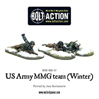 Warlord Games - US Army MMG team (Winter) - 28mm Bolt Action Wargaming Miniatures