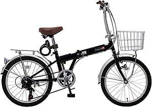 Topone トップワン20インチ折りたたみ自転車ブラックKGK206-09-BK(画像下側)