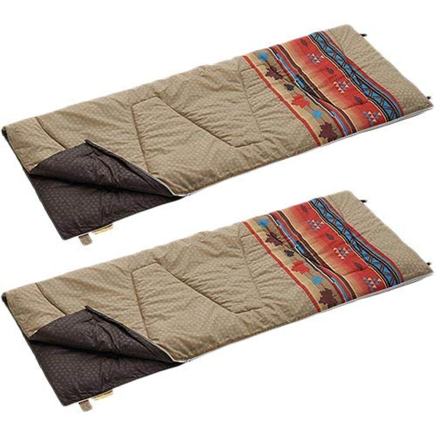 鋼松の木公平[ロゴス] キャンプ 丸洗い寝袋 ファミリー10 ナバホ 72600641 2点セット R12AI003