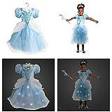 ディズニー プリンセス シンデレラ 衣装 コスチューム ライトアップ 120cm 5-6歳 女の子 子供 キッズ ハロウィン ドレス
