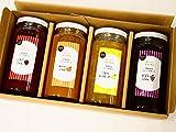 modafood【贈答品・ギフト】ジャム4本セット-いちごジャム、みかんジャム、こなつマーマレード、ぶどうジャム-