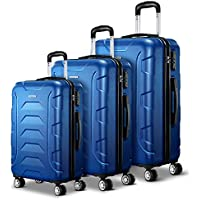 Wanderlite 3 Pcs Lightweight Luggage Hard Suitcases and Scale
