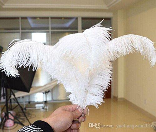 結婚式のテーブルのセンターピースのぼかしのための卸し売り 50 PC / ロット 18-20 インチ( 45-50 cm )白ダチョウの羽毛羽毛 1 多くのセンターピースパーティイベント装置