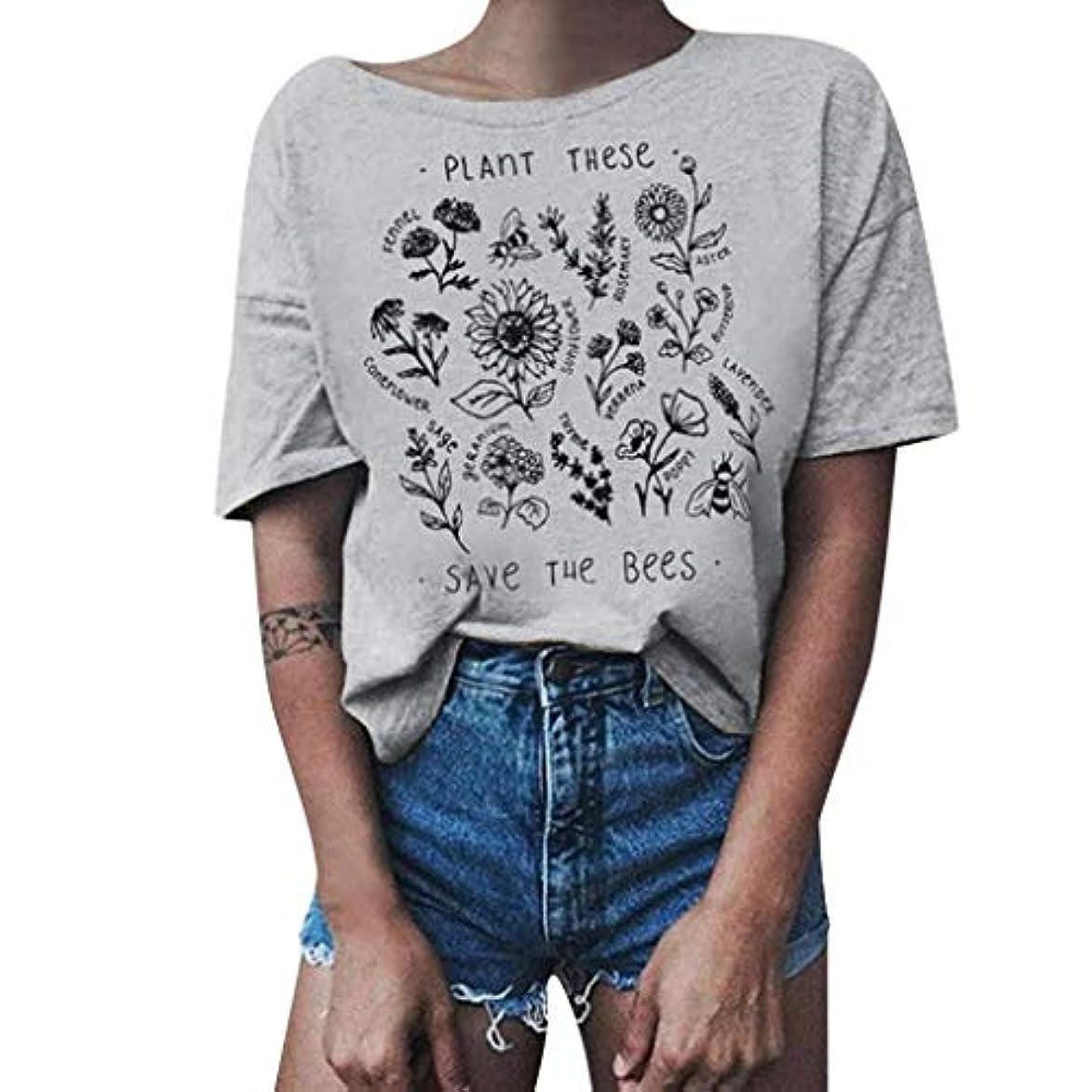 所持破産対人Tシャツ レディース 半袖 おおきいサイズ ビンテージ 花柄 ラウンドネック ビジネス 学生 洋服 お出かけ ワイシャツ 流行り ブラウス 軽い 柔らかい かっこいい カジュアル シンプル オシャレ 春夏 対応 可愛い 欧米風 日韓風