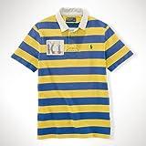 ポロラルフローレン POLO RALPH LAUREN 正規品 メンズ 半袖ラガーシャツ Custom-Fit Rugby YELLOW S 並行輸入 (コード:4050170512-2)
