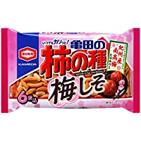 亀田製菓 亀田の柿の種梅しそ6袋詰 182g