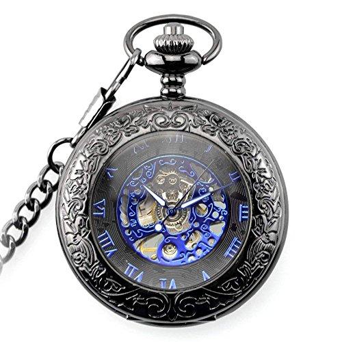 【ノーブランド品】レトロな スチームパンク 機械式 懐中時計...