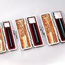 黒水牛 個人印鑑 3本セット もみ皮ケース付き もみ皮ケース付き 10.5mm~18mmサイズ選択可能 実印/銀行印 kmkhanko