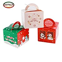 Gospire クリスマスギフトボックス キャンディボックス クリスマスパーティーバッグギフト 24枚入り