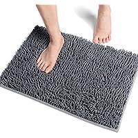 Vdomus バスマット 足ふきマット 速乾 吸水 抗菌 ふわふわ 丸洗い 風呂 浴室 玄関 マット 40x60cm (グレー)