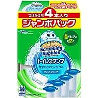 【まとめ買い】 スクラビングバブル トイレ洗浄剤 トイレスタンプクリーナー フレッシュソープの香り 付替用4本 38g×4本