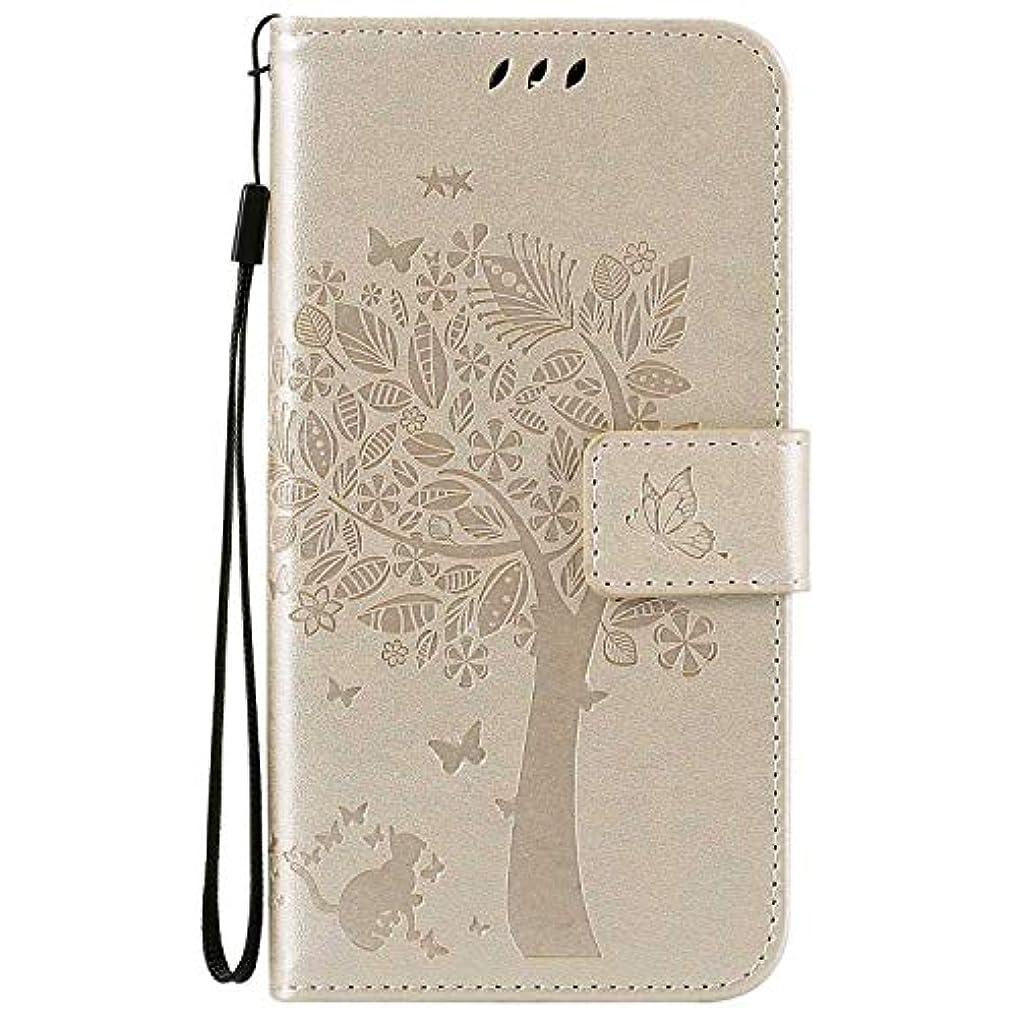 電球ゆるく楽観的OMATENTI LG K7 / K8 ケース 手帳型ケース ウォレット型 カード収納 ストラップ付き 高級感PUレザー 押し花木柄 落下防止 財布型 カバー LG K7 / K8 用 Case Cover, 白