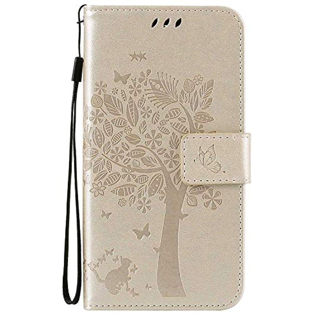 微視的毛皮割り込みOMATENTI LG K7 / K8 ケース 手帳型ケース ウォレット型 カード収納 ストラップ付き 高級感PUレザー 押し花木柄 落下防止 財布型 カバー LG K7 / K8 用 Case Cover, 白