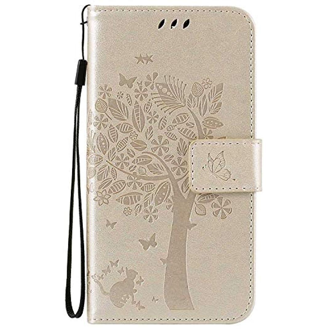 なぜなら評判放つOMATENTI LG K7 / K8 ケース 手帳型ケース ウォレット型 カード収納 ストラップ付き 高級感PUレザー 押し花木柄 落下防止 財布型 カバー LG K7 / K8 用 Case Cover, 白
