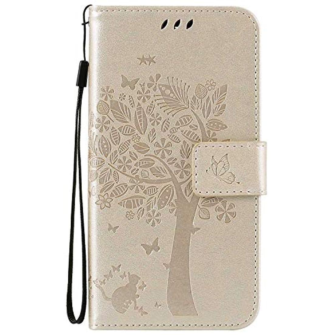 土裏切り雷雨OMATENTI LG K7 / K8 ケース 手帳型ケース ウォレット型 カード収納 ストラップ付き 高級感PUレザー 押し花木柄 落下防止 財布型 カバー LG K7 / K8 用 Case Cover, 白