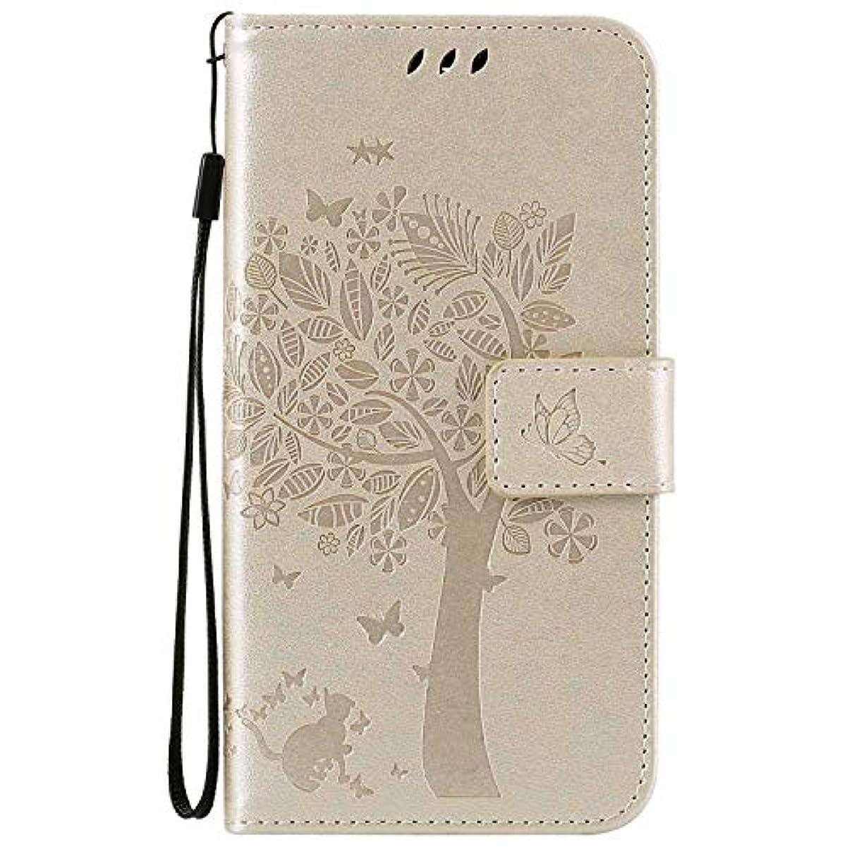 望ましい新鮮な自然OMATENTI LG K7 / K8 ケース 手帳型ケース ウォレット型 カード収納 ストラップ付き 高級感PUレザー 押し花木柄 落下防止 財布型 カバー LG K7 / K8 用 Case Cover, 白