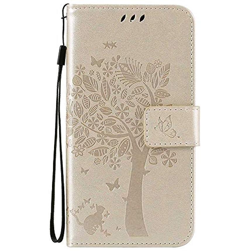 犯す人口滑るOMATENTI LG K7 / K8 ケース 手帳型ケース ウォレット型 カード収納 ストラップ付き 高級感PUレザー 押し花木柄 落下防止 財布型 カバー LG K7 / K8 用 Case Cover, 白