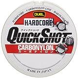 デュエル(DUEL) ライン(カーボナイロン): HARDCORE QUICK SHOT CN 150m 16Lbs. : チタンゴールド