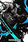 """Notebook: Zoro Onepiece Splash Art , Journal for Writing, College Ruled Size 6"""" x 9"""", 110 Pages"""
