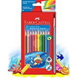 Faber-Castell Watercolour 12 Colour Grip Pencils and Brush Box (16-116242)