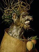 手描き-キャンバスの油絵 - man of tree Giuseppe Arcimboldo 古典派 静物 芸術 作品 洋画 -サイズ15
