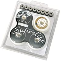 Hyper 72212 Roues de roller hockey Superlite Combo Pack, roulements ABEC 7 82A 84 mm Blanc