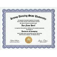 Krump Dancing Krumping Degree: Custom Gag Diploma Doctorate Certificate (Funny Customized Joke Gift - Novelty Item) by GD Novelty Items [並行輸入品]