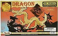 """三次元のジグソー パズル 148 個セット 21""""x 3""""× 12""""-ドラゴン"""