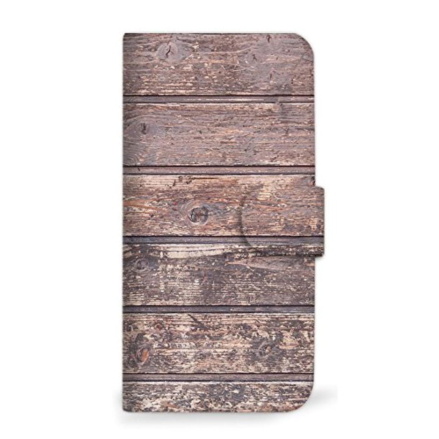 バーゲン回路取り壊すmitas Galaxy S8 Plus SC-03J ケース 手帳型  ウッド柄 A (342) SC-0091-A/SC-03J