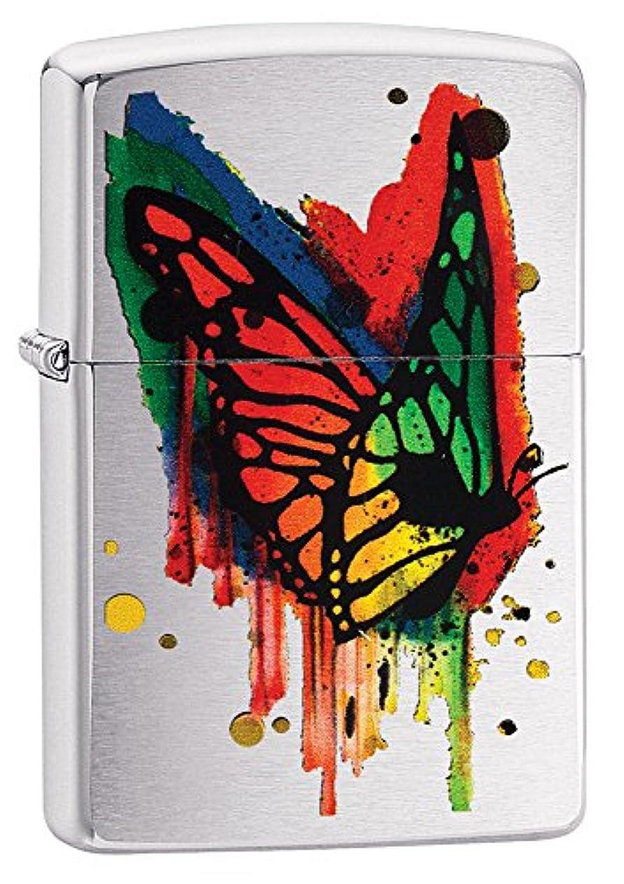 適応監督するおじさんZIPPO(ジッポー) Butterfly (バタフライ) ライター 日本未発売 29392 Brushed Chrome Rainbow [並行輸入品]