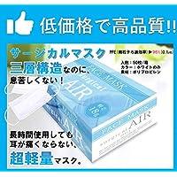 業務用衛生検査済 超軽量1.8gサージカル衛生マスク 50枚入り (3)