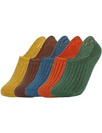 EOZY ショートソックス スニーカーソックス 靴下 ボーダー柄 ビジネス 浅履き くるぶし 春夏 無地 綿 通気 防臭 滑り止め メンズ レディース 男女兼用 5足セット