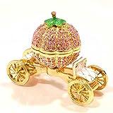 <かぼちゃの馬車 ピンク> ピィアース トゥインクルボックス キラキラガラスの小物入れ 置物 宝石箱 女性が喜ぶ可愛いプレゼント♪ 誕..