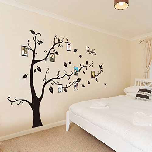 GOUZI The head of the bed sofa background photo frame tree decoration wall posters Removable wall sticker For Bedroom Living Room Background Wall Bathroom Study Barber Shop