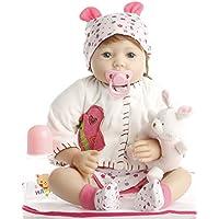 NPK Collection(NPKコレクション)リボーンベビードール 本物そっくりの赤ちゃん人形 ビニール シリコン 22インチ 55cm 人形 新生児 本物そっくり赤ちゃん人形 おしゃぶり 可愛い レッド スーツ ドール