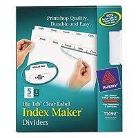 avery インデックスmaker with bigタブ 11 x 8 1 2 5 tab