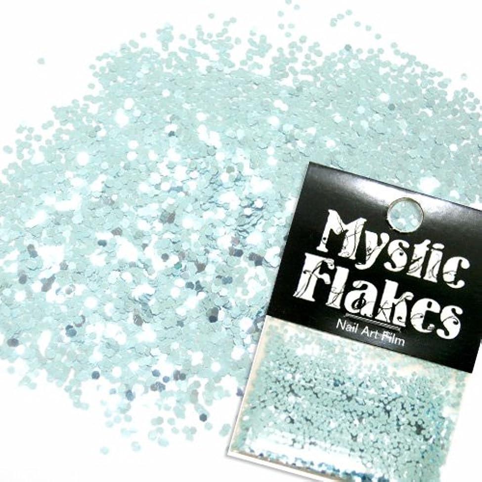 死の顎指紋象ミスティックフレース ネイル用ストーン メタリックLtブルー ヘキサゴン 1mm 0.5g