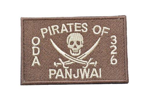 ネイビーシールズ ODA326 クロスソード スカル ベルクロ付き ワッペン パッチ 徽章 タンカラー 茶色
