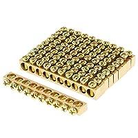 10穴の電気配線ワイヤーねじ込み端子の真鍮の地上の中立棒、10Pcs末端の接地棒