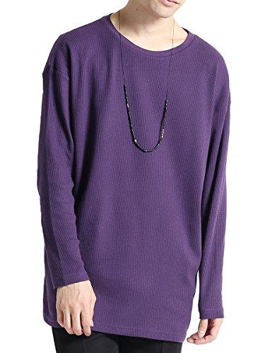 [해외](모노마토) MONO-MART 와플 니트 빅 실루엣 니트 사이드 슬릿 헴 라인 긴팔 와플 T 셔츠 남성/(Monomart) MONO-MART Waffle knitting Big silhouette Cut and sewn side slit hemline long-sleeved waffle T-shirt Men`s