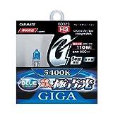 カーメイト 車用 ハロゲン ヘッドライト GIGA ブルーエボリューション H3 5400K 800lm 車検対応 BD323