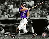 """d.j. LeMahieu Colorado Rockies MLBスポットライトアクション写真(サイズ: 8"""" x 10"""")"""