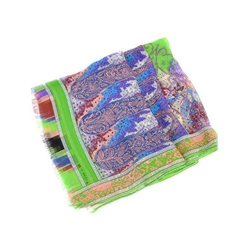 (エトロ) ETRO ロングスカーフ 10007-4367 66x160 グリーン 並行輸入品