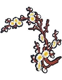 SONONIA 刺繍パッチ 飾り パッチ レース 花柄 アップリケ 縫製用品 刺繍飾り 工芸品 全7色 - パターン2