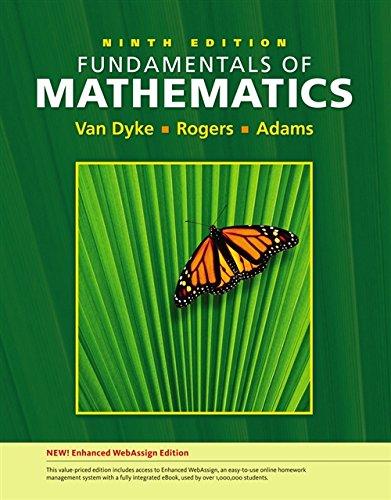 Download Fundamentals of Mathematics: Enhanced Webassign Edition (Available 2010 Titles Enhanced Web Assign) 1439047294